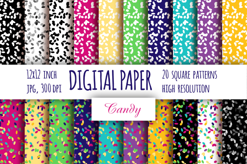 Abstract digital paper. Multi color cake topping paper example image 1