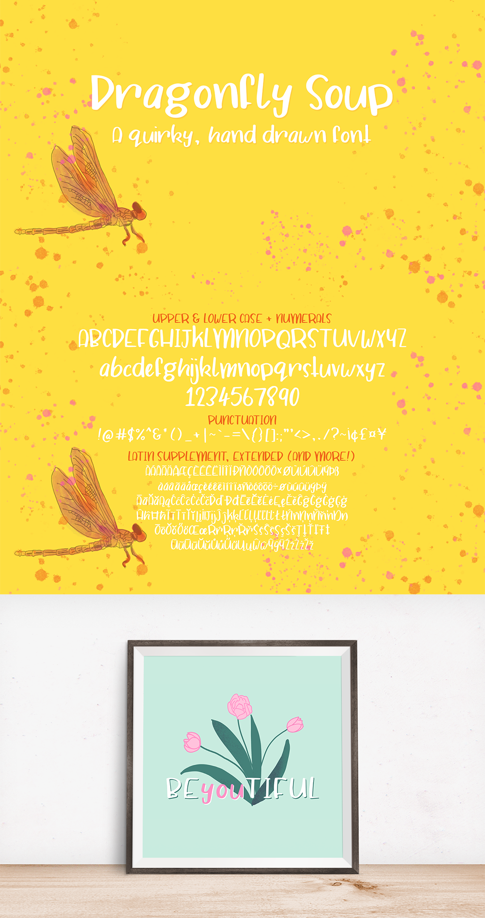 Dragonfly Soup - A quirky hand drawn font example image 7