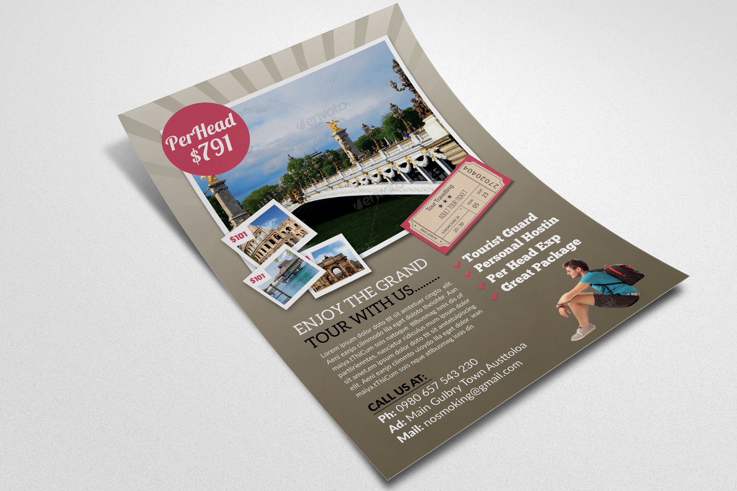 Tour Travel Flyer  example image 2