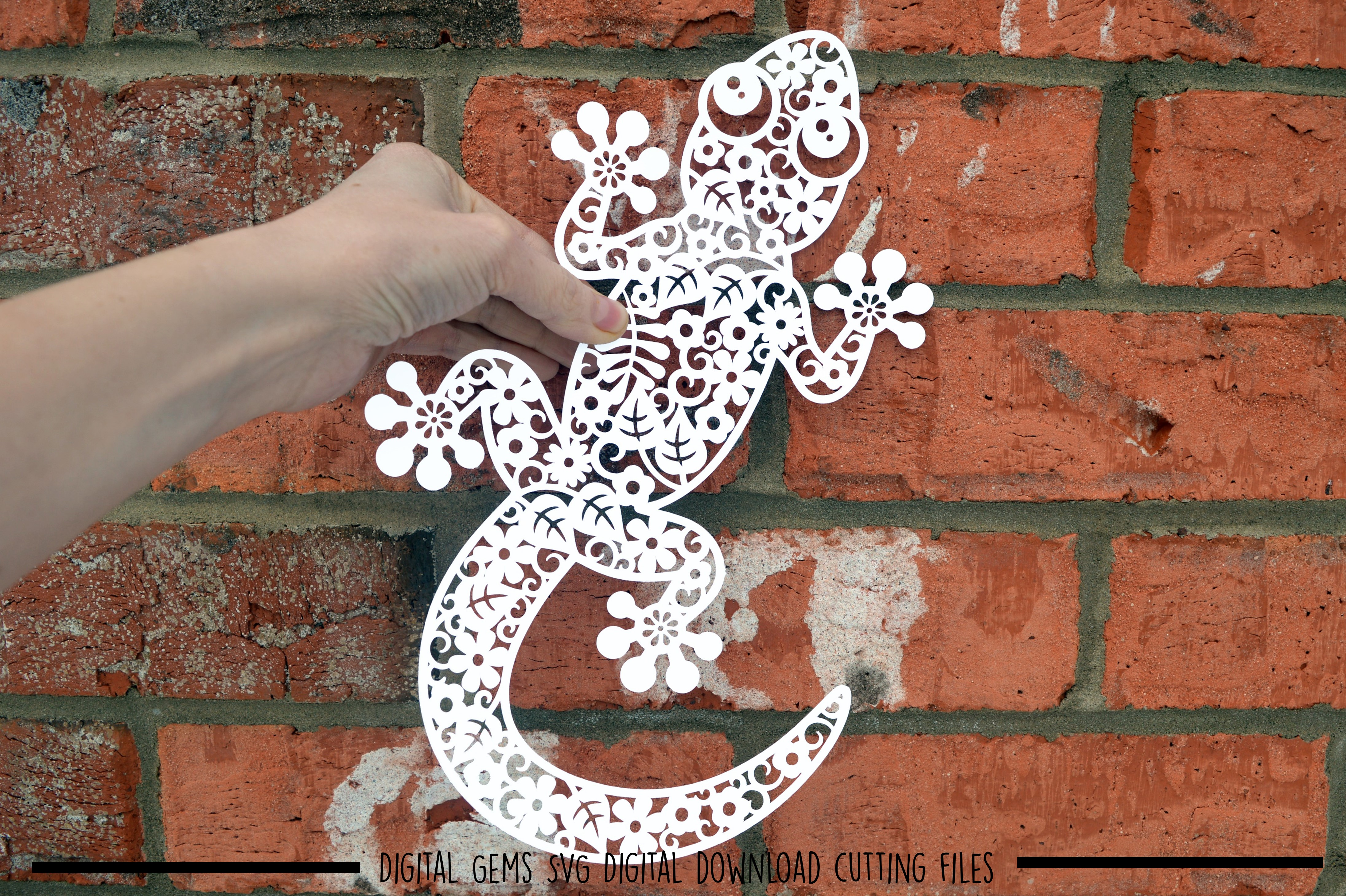 Lizard paper cut SVG / DXF / EPS files example image 2