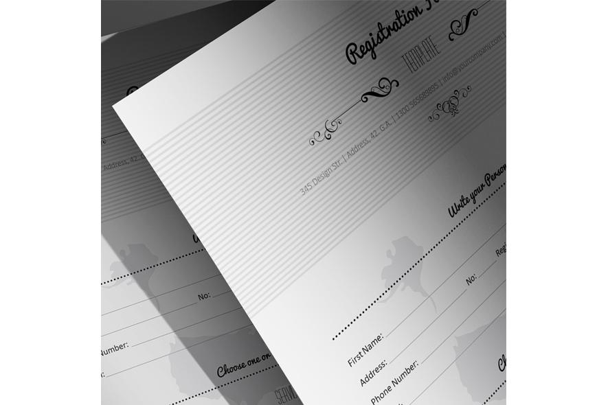 Registration Form Template v6 example image 6