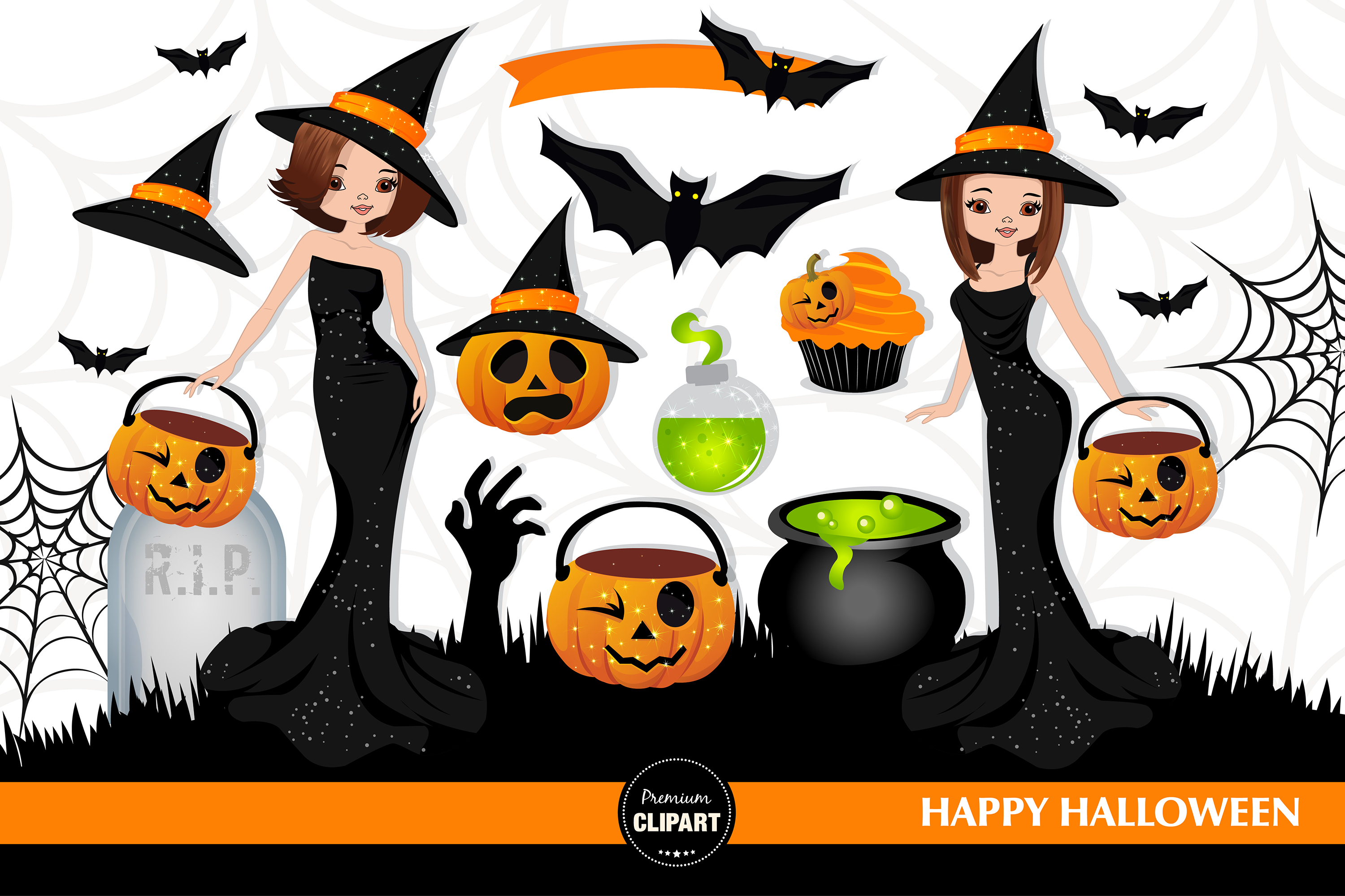 Halloween witch, Halloween illustrations, Halloween pumpkin example image 2
