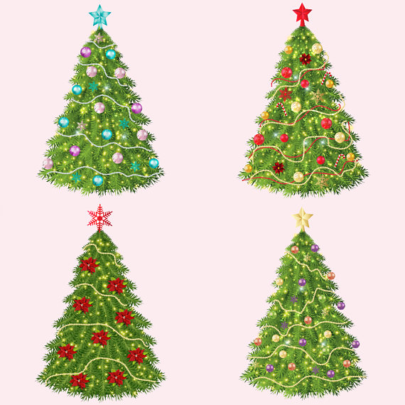 Christmas Trees Clipart example image 3