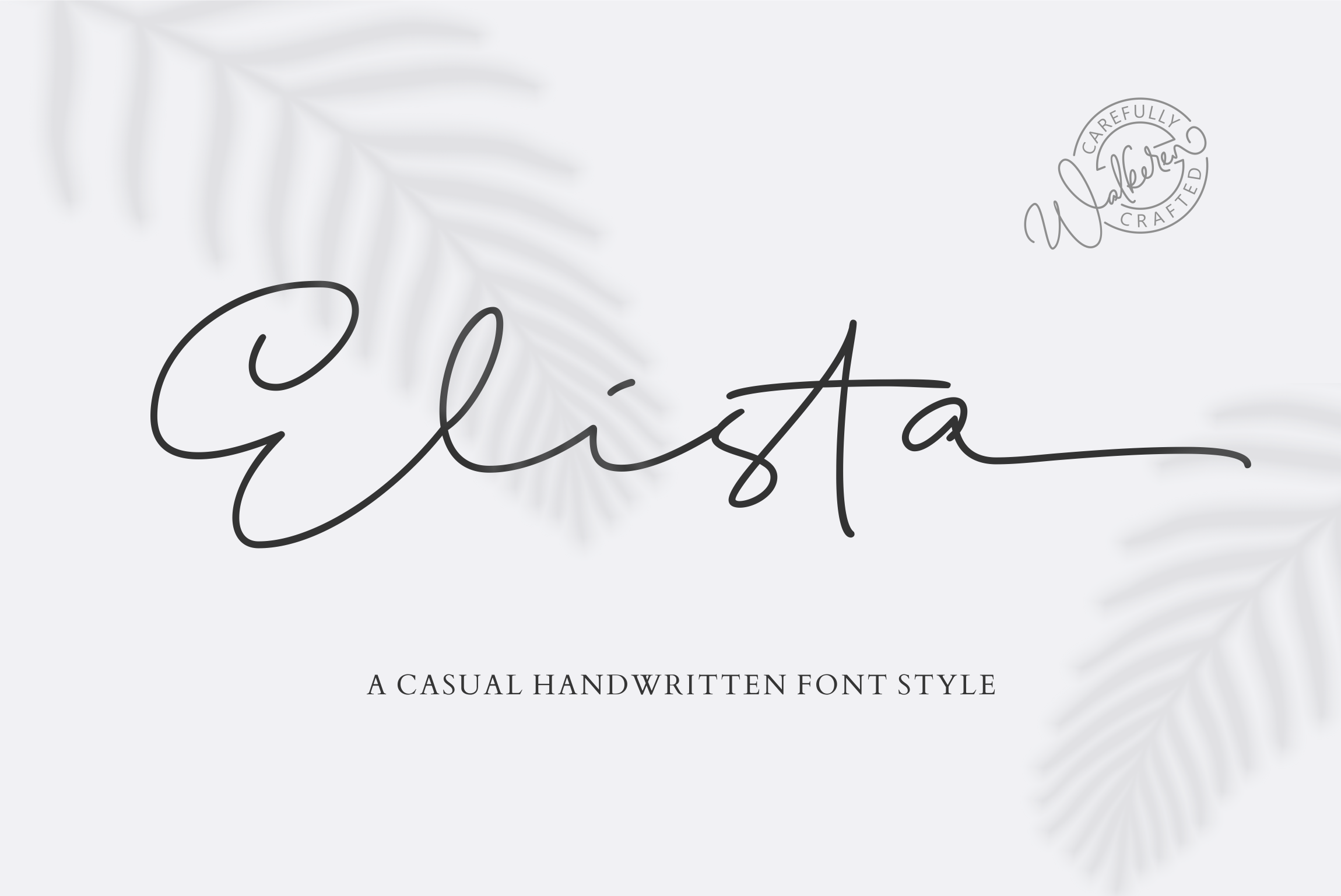 Elista - A Casual Handwritten Font example image 17