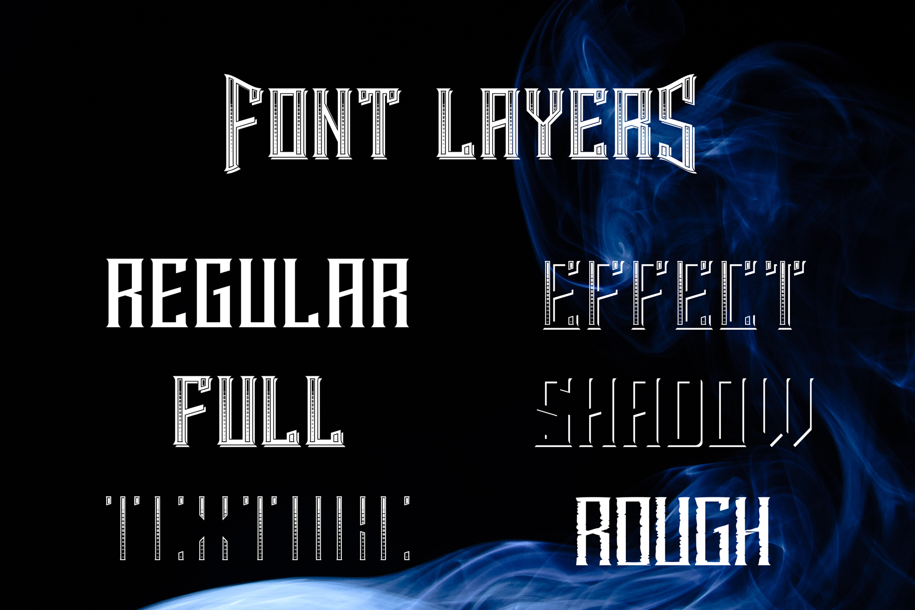 Smokers typeface example image 4