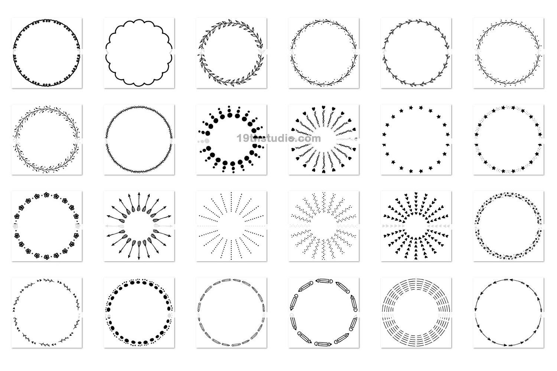 100 Wreaths and Circles SVG Bundle -VB example image 3