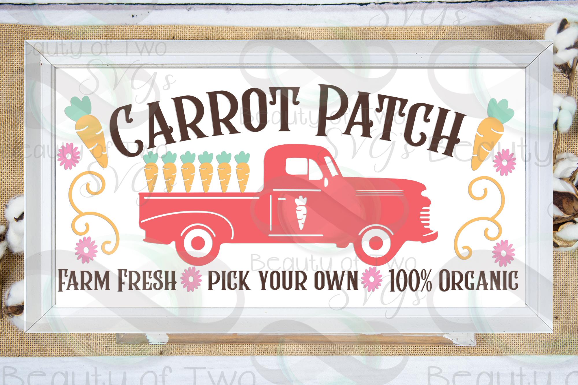 Easter Vintage Truck Carrot Patch svg, Vintage Truck svg, example image 1