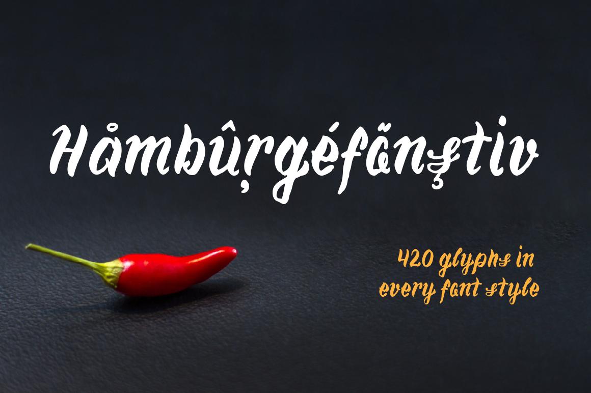 Chili—handwritten font example image 3