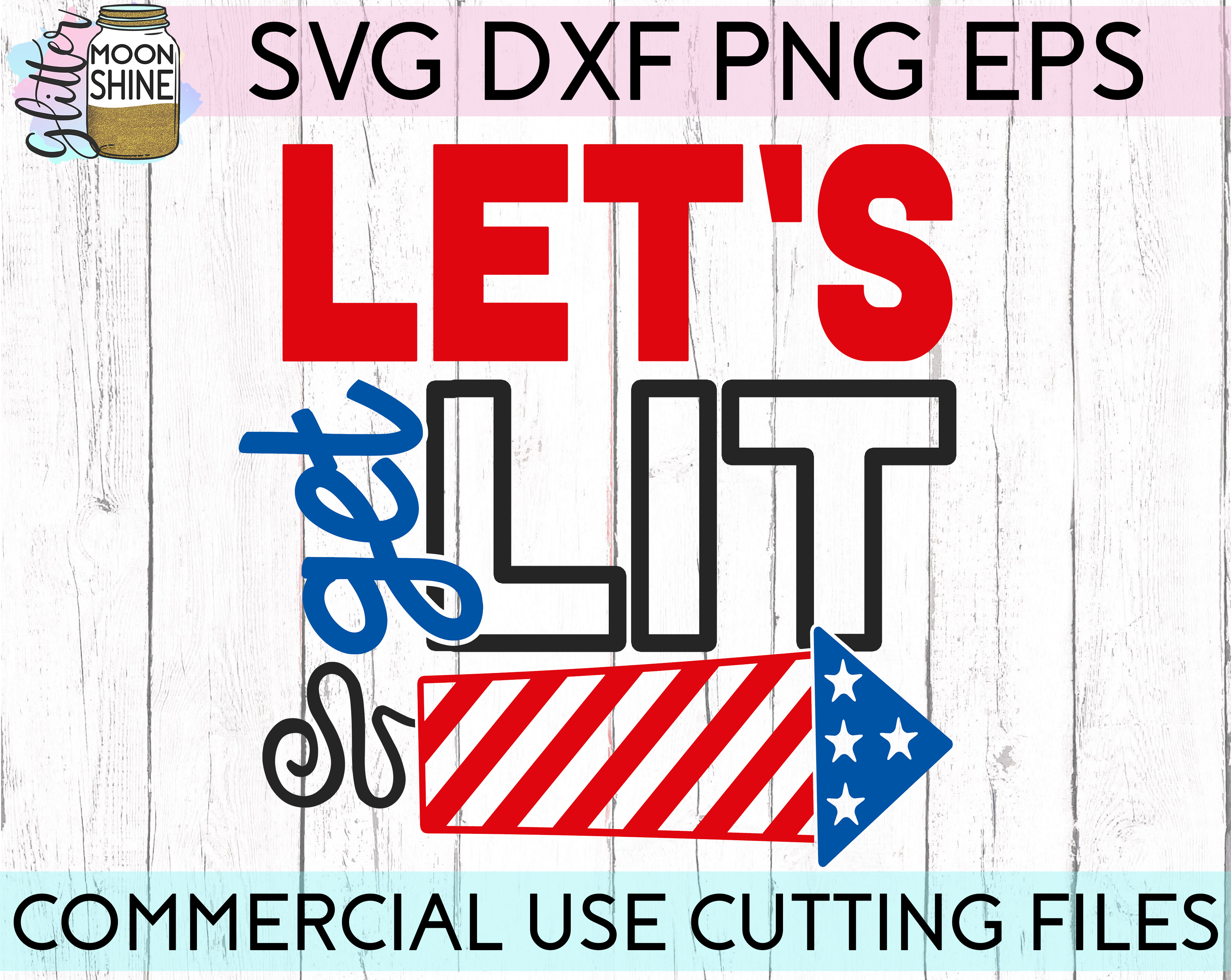 Huge 4th Of July Design Bundle of 23 SVG DXF PNG EPS Cutting Files example image 17