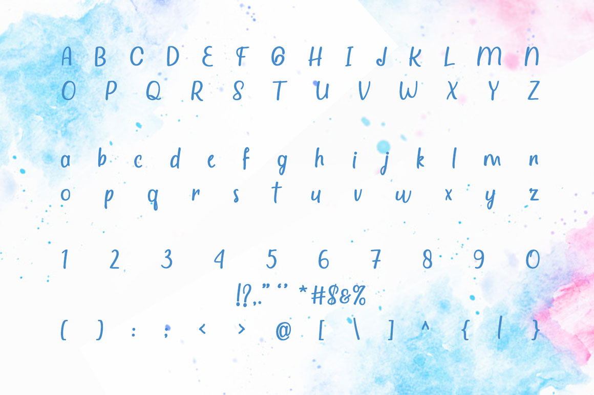 Watercolor - Quirky Handwritten Font example image 5