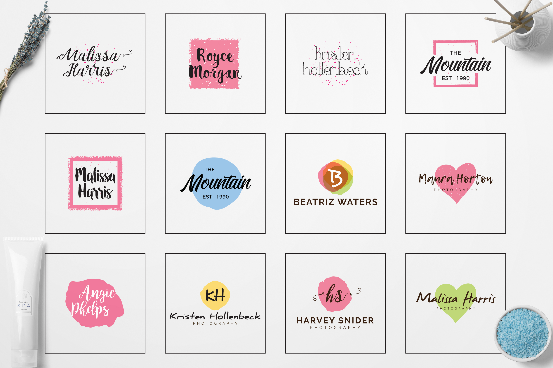 GIRLPOWER Feminine Branding Logo Pack example image 2