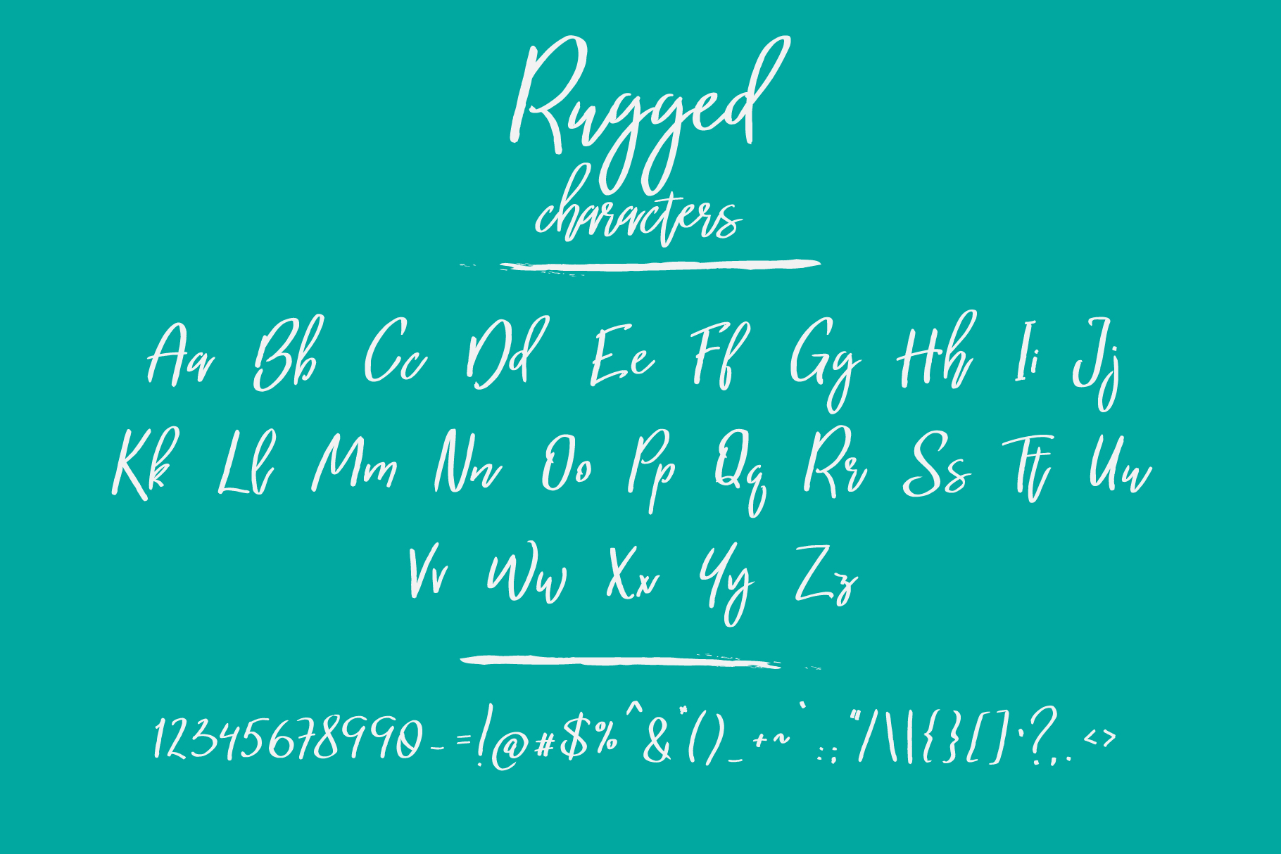 Rugged   a hand-written font example image 2