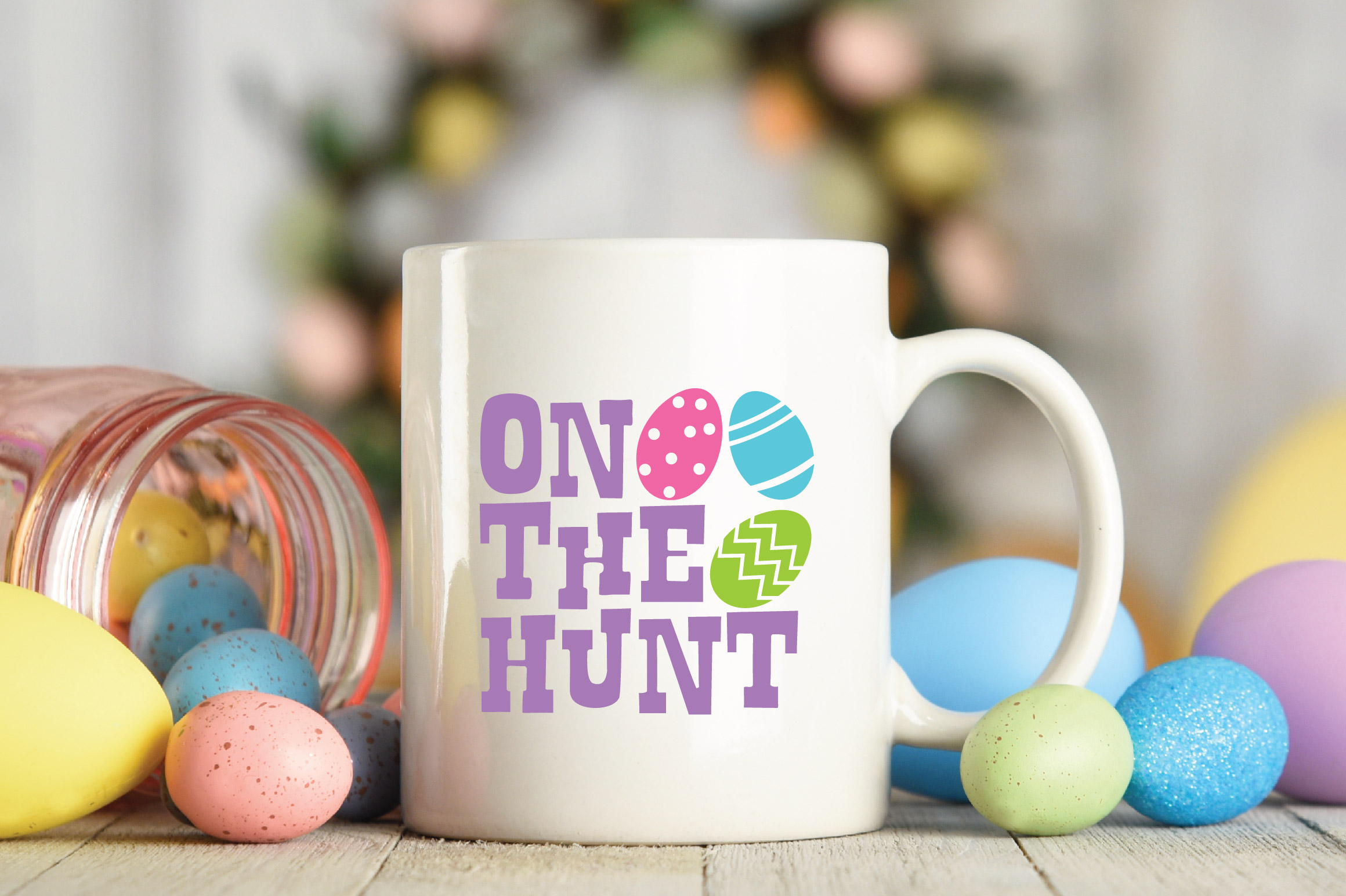 Easter SVG Cut File - On The Hunt SVG DXF EPS PNG JPG AI example image 4