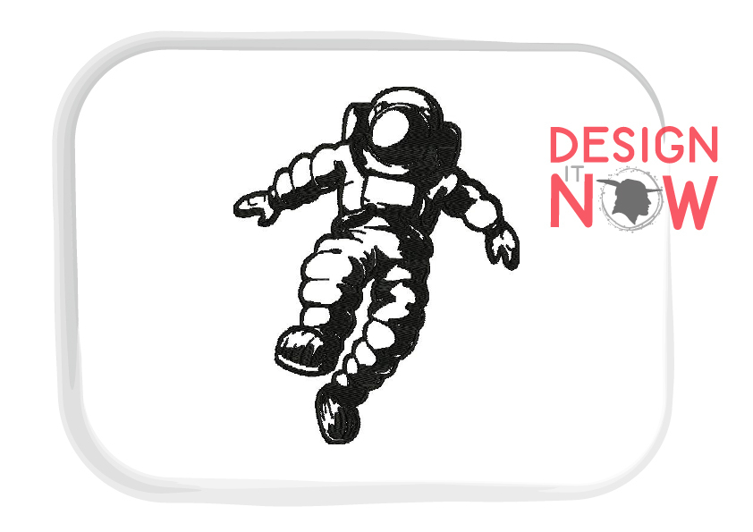 Astronaut Embroidery Design, Spaceship Embroidery Pattern example image 2