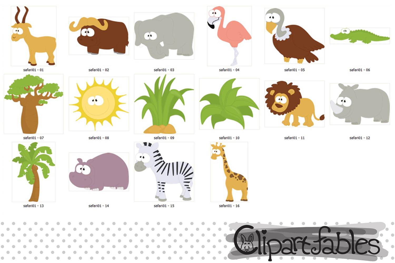 SAFARI clipart, cute animals clip art, instant download example image 2