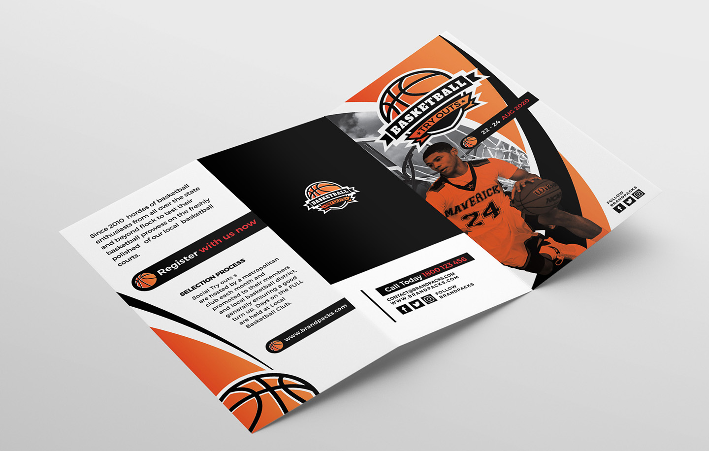 Basketball Tri-Fold Brochure Template example image 4