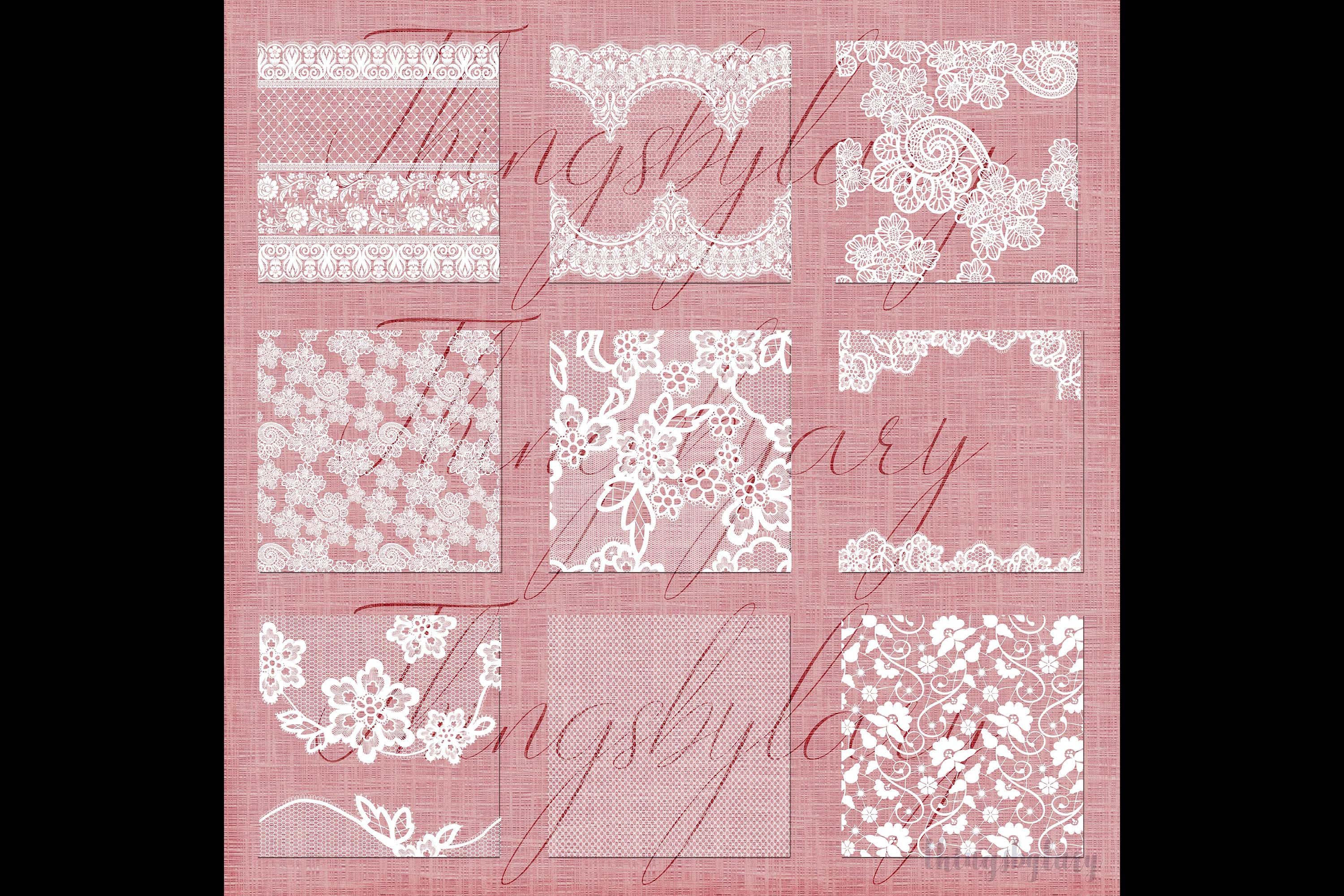 27 White Lace Border Frame Overlay Transparent Images PNG example image 8
