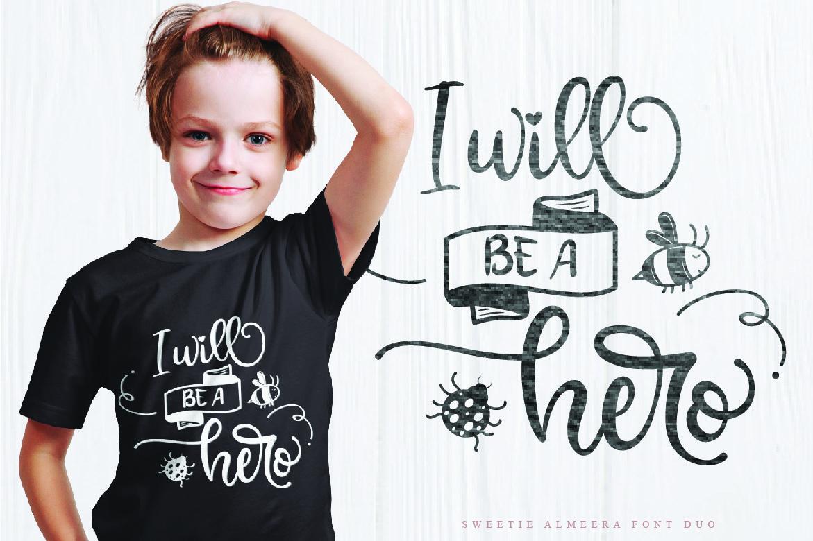 Sweetie Almeera Font Duo example image 7