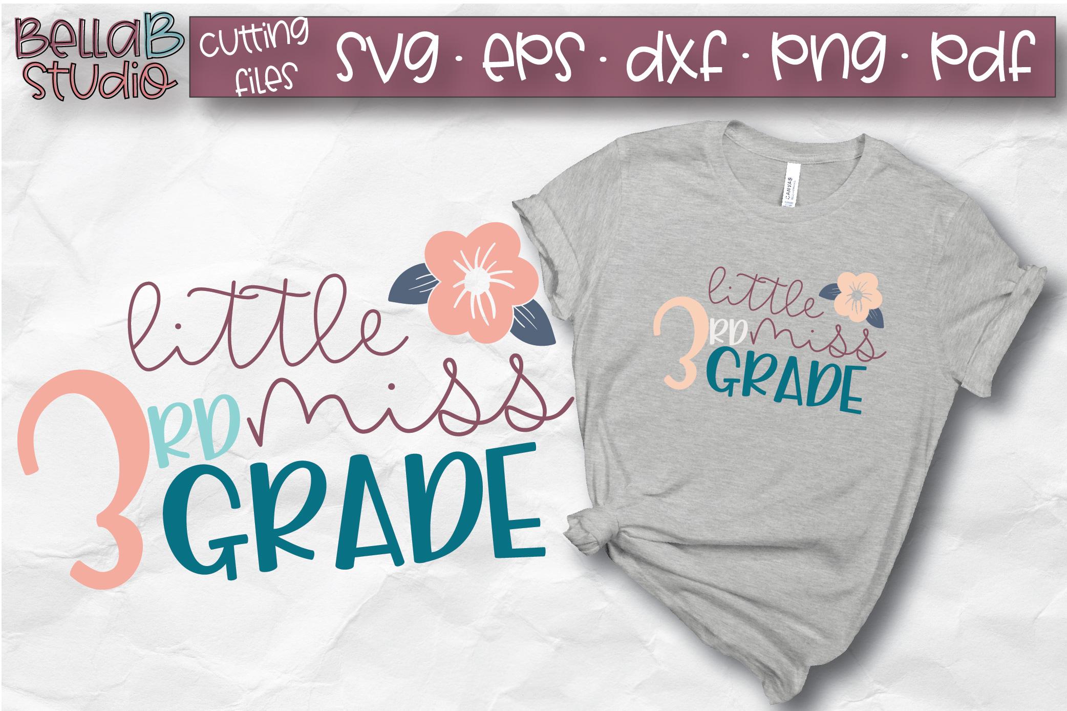 Little Miss 3rd Grade SVG, Third Grade, School SVG, Grade 3 example image 1