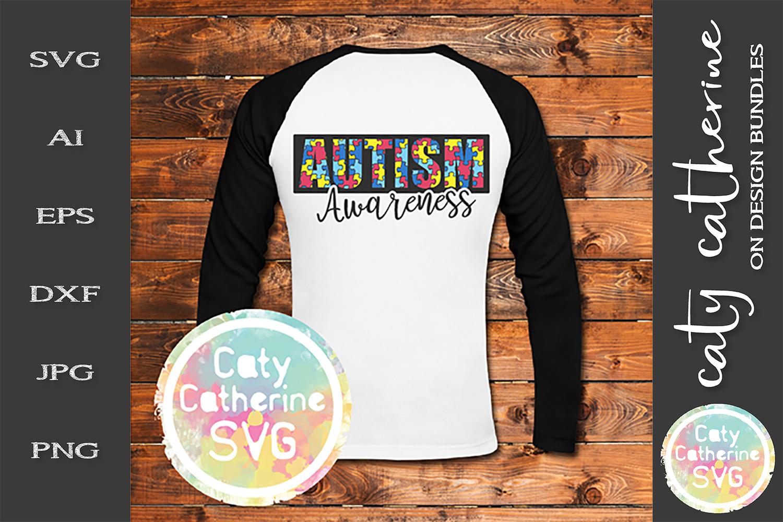 Autism Awareness SVG Jigsaw Puzzle Autism Awareness Cut File example image 1