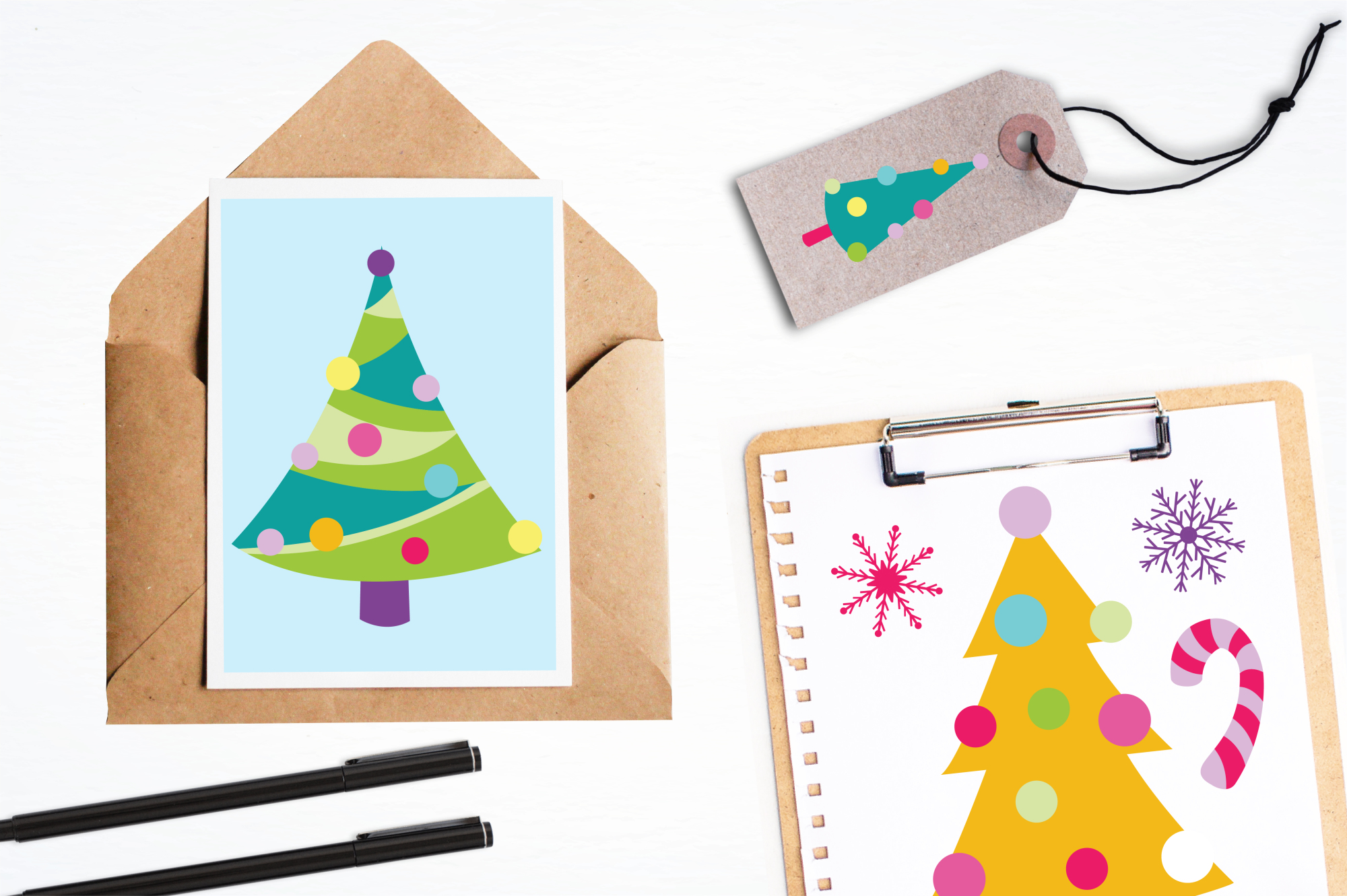 Christmas Trees graphics and illustrations example image 4