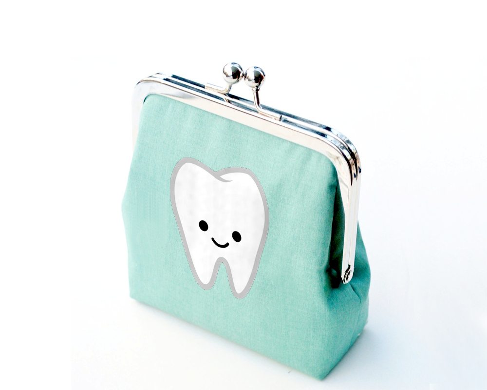 Cute Smiling Tooth SVG File Cutting Template example image 1