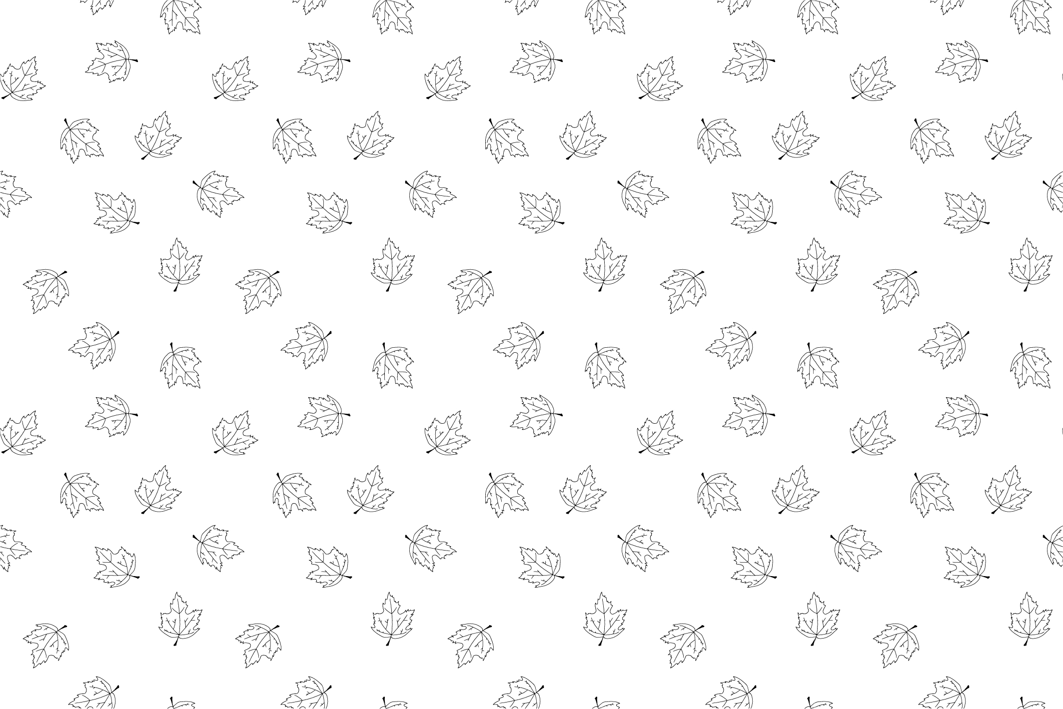 Autumn seamless patterns. Handdrawn example image 4