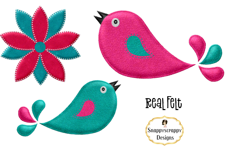 Cute Felt Bird Mix Clipart example image 2