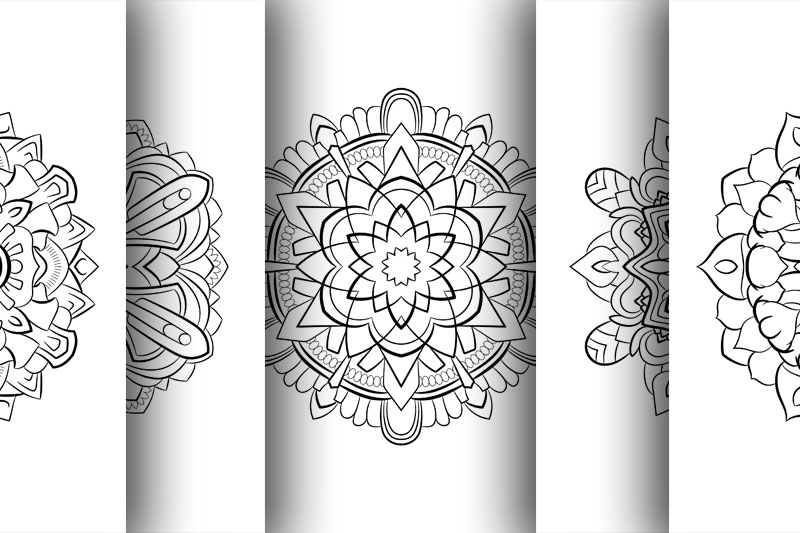 Coloring with 50 floral mandalas example image 3