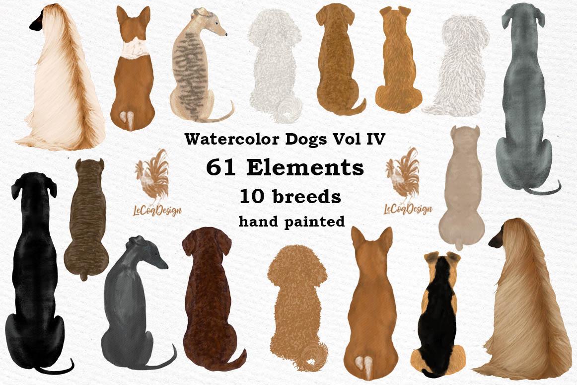 Dog clip art, Watercolor dogs, Maltese Bichon Cane Corso example image 1