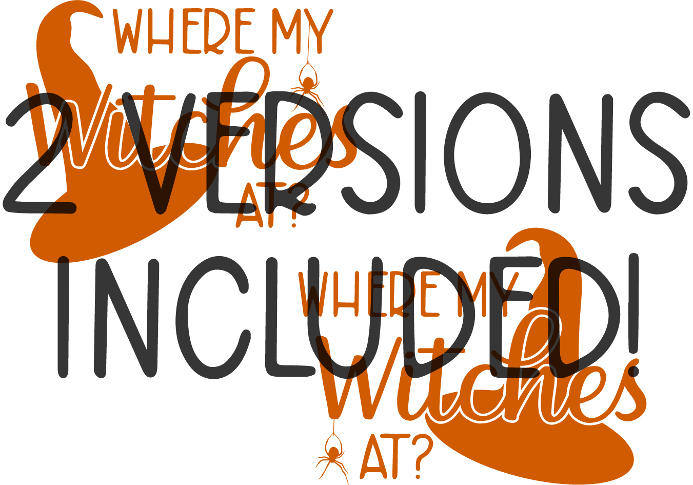 Where My Witches At Halloween Cut File DXF PNG JPG SVG EPS example image 2