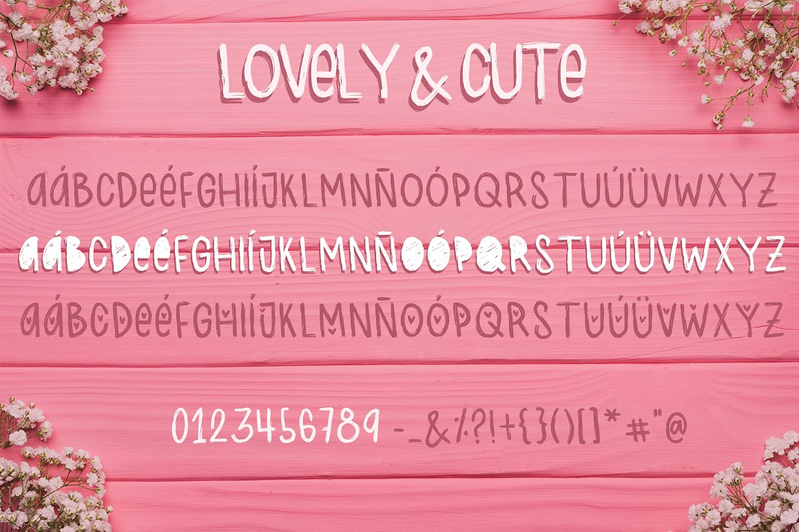 Lovely & Cute - 3 Handmade fonts! example image 5