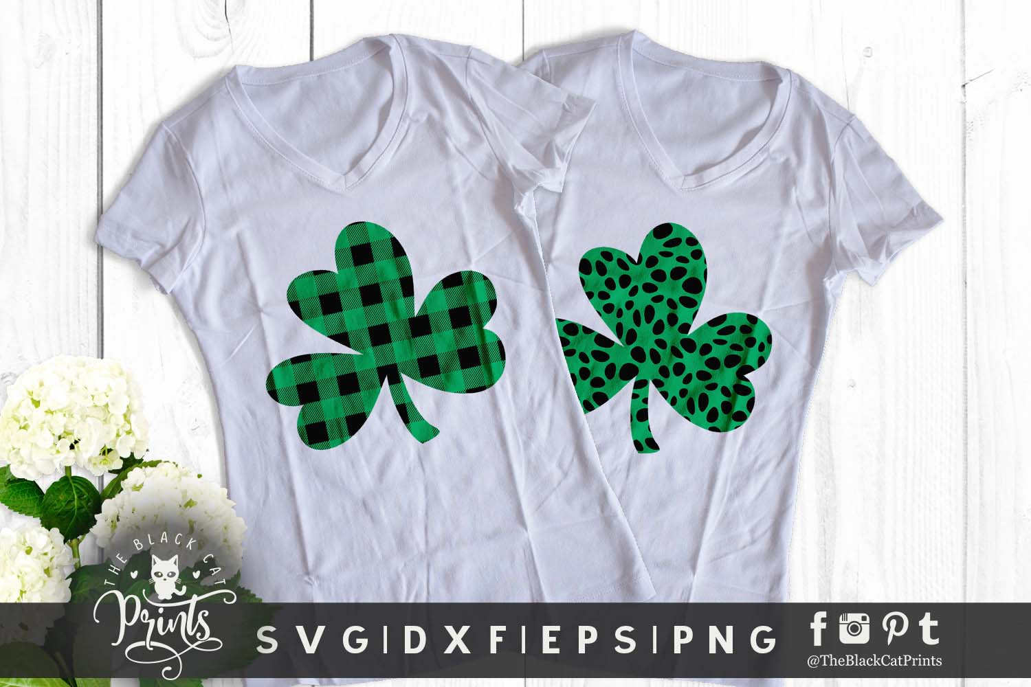 Shamrock Clover Clipart SVG DXF EPS PNG example image 7