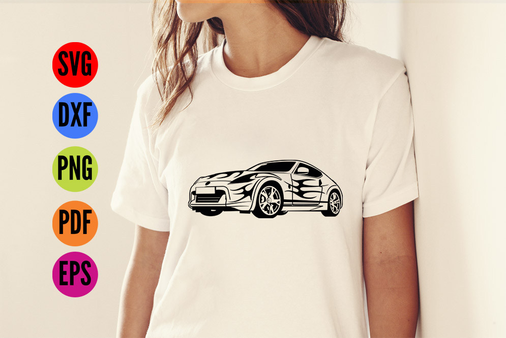 Sports Car  SVG Cutting File  example image 3