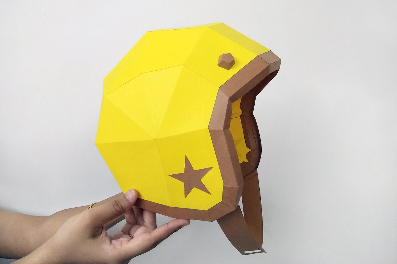 DIY Vintage Helmet - 3d papercrafts example image 3