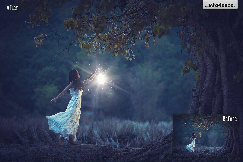 Lamp Light Photo Overlays example image 2