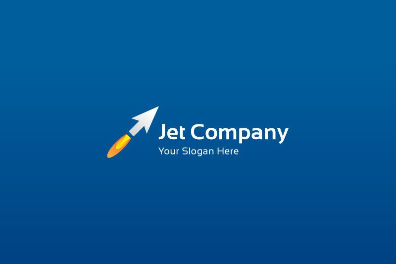 Jet arrow logo example image 4