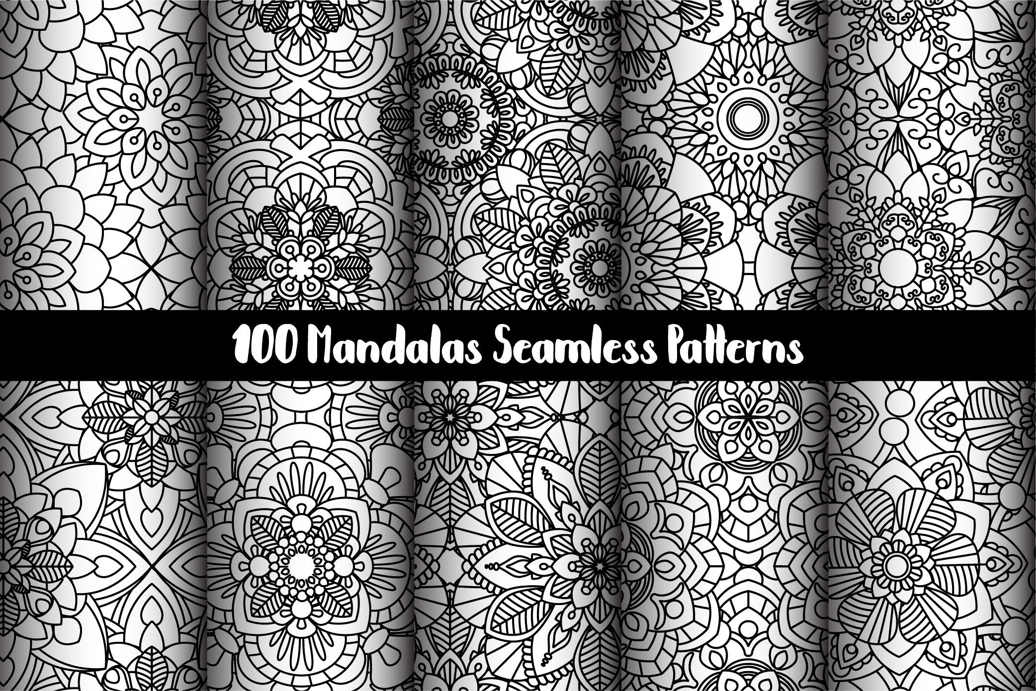 100 Mandalas Seamless Patterns example image 13