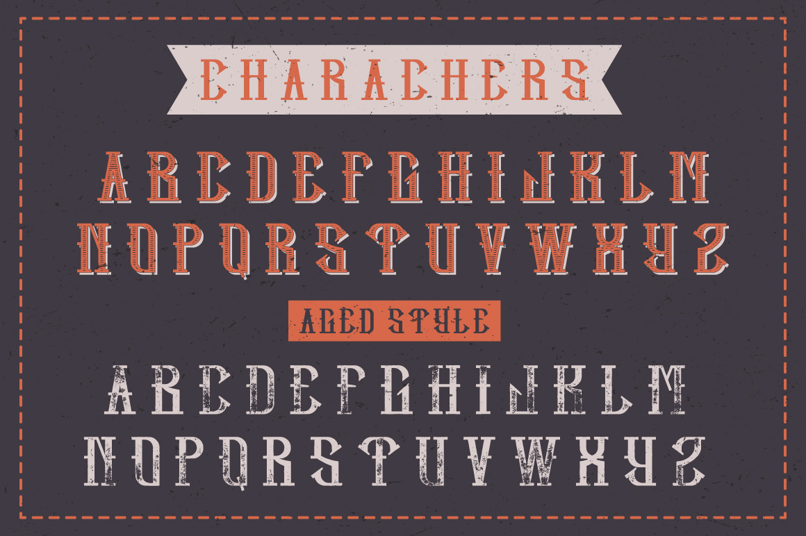 Hipster label typeface example image 2