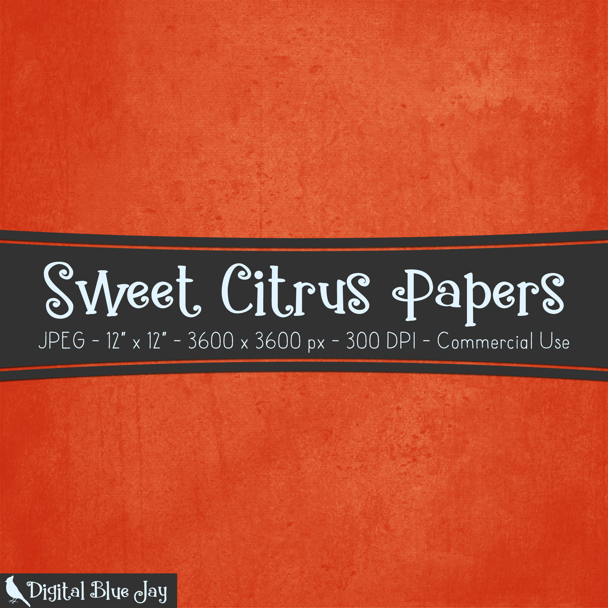 Digital Paper Textured Backgrounds - Sweet Citrus example image 2