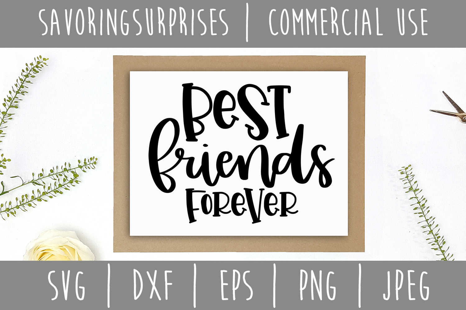 Best Friends Forever SVG, DXF, EPS, PNG JPEG example image 2