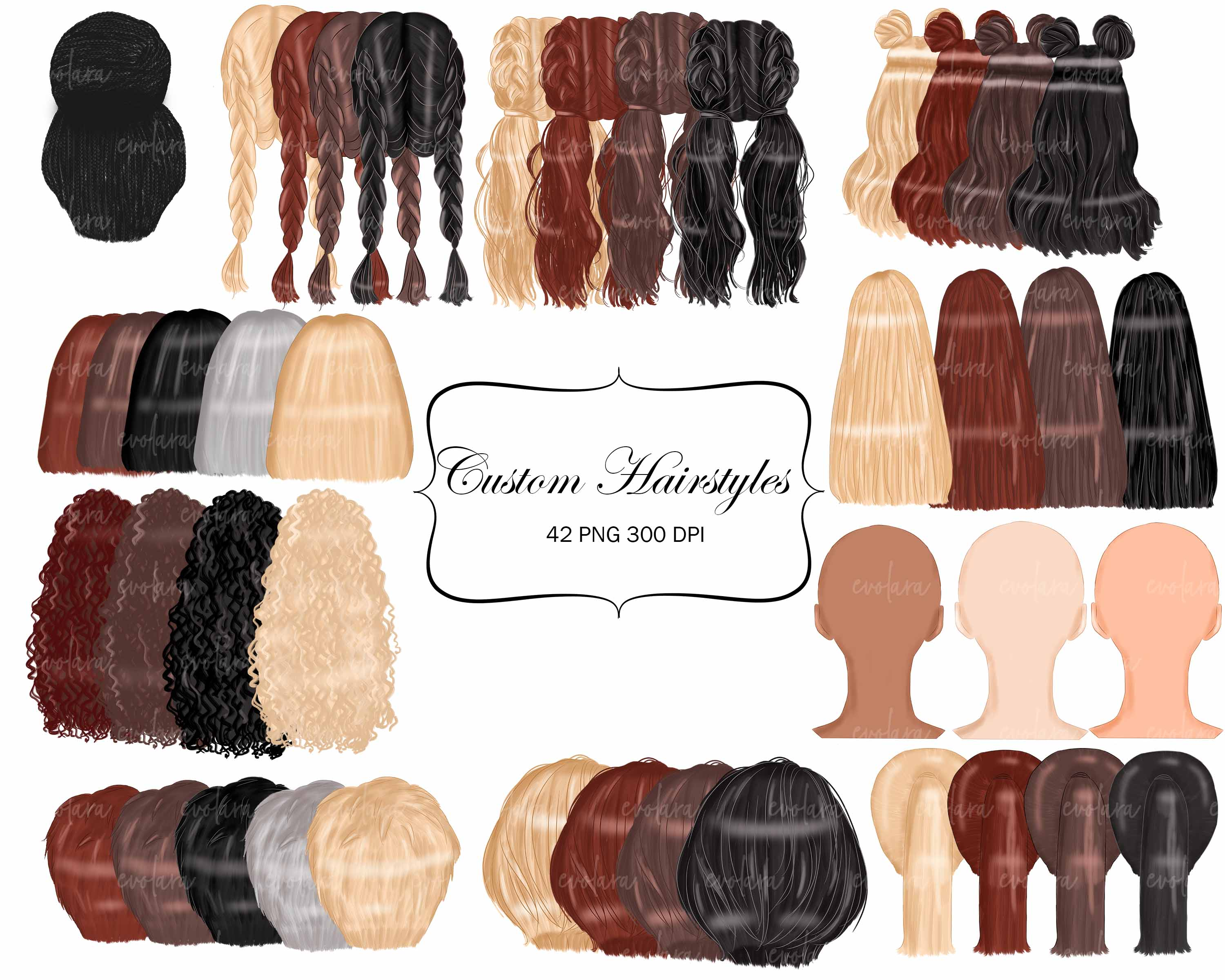 Custom Hairstyles Clipart Womans Hair Clipart Best Friends example image 2