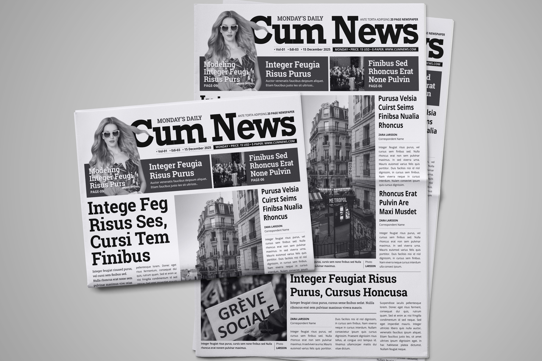 Newspaper Design Bundle - 3 in One example image 8