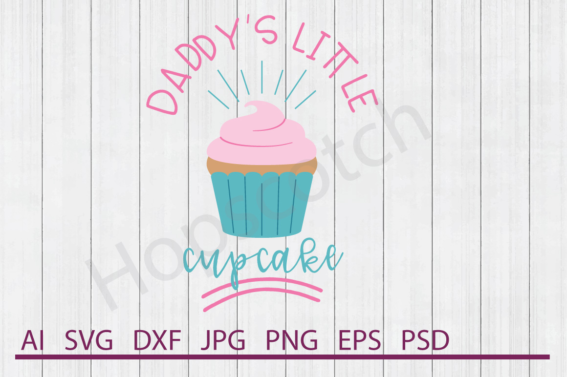Cupcake SVG, Little Cupcake SVG, DXF File, Cuttable File example image 1