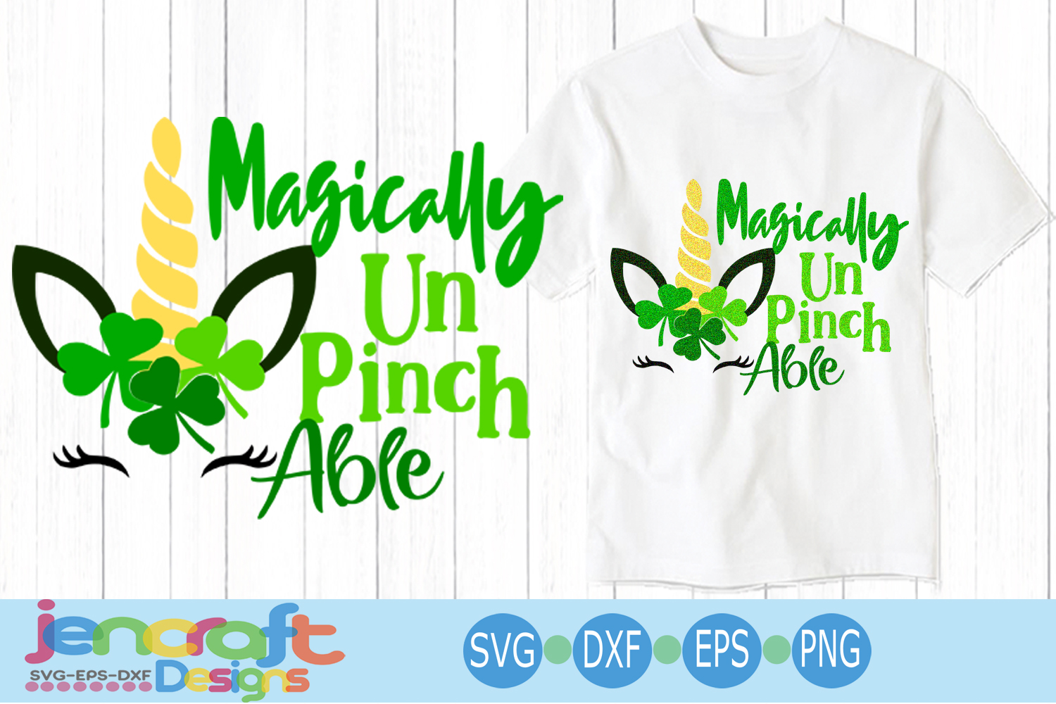 St. Patrick's day SVG, Unicorn SVG, Magically Unpinchable example image 1