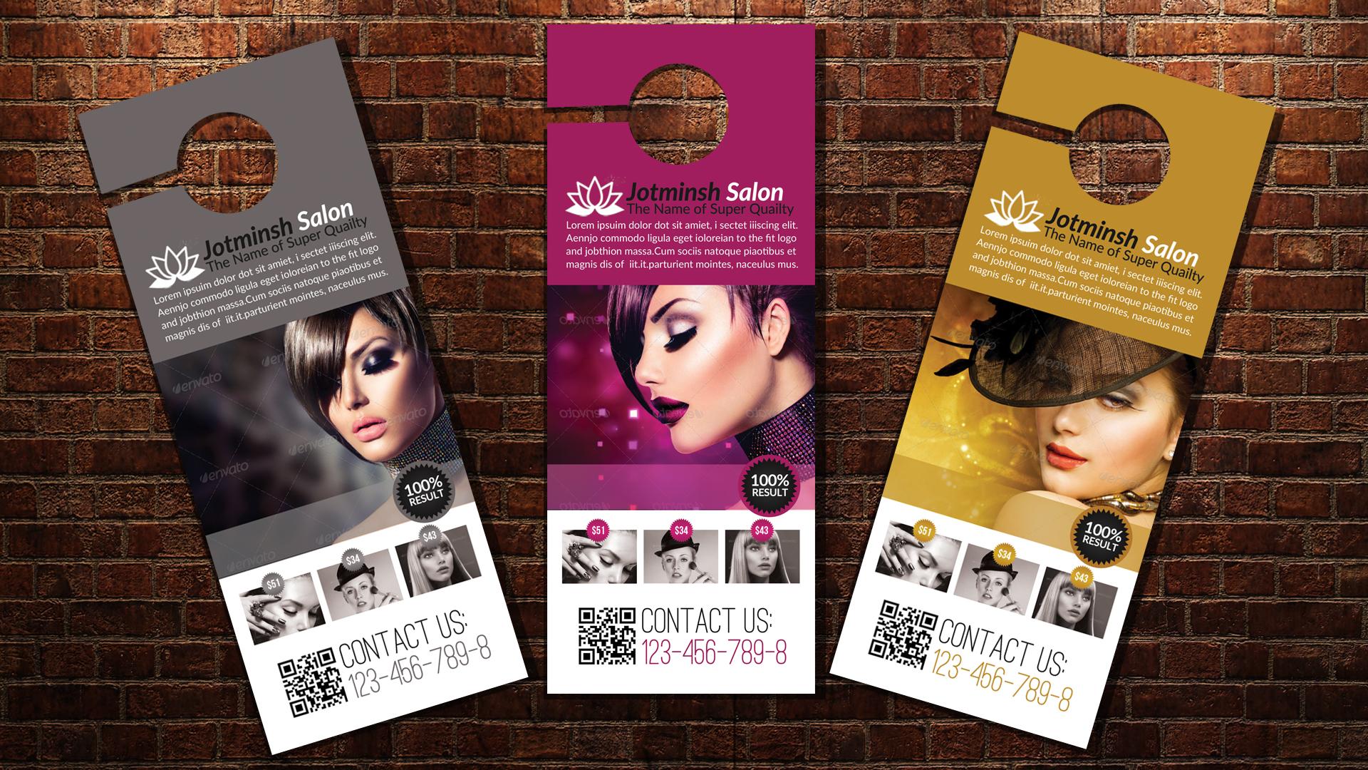 Beauty Salon Door Hangers example image 3