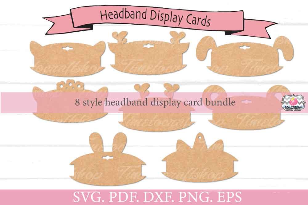 Animal Ears Headband Display Card Bundle example image 4