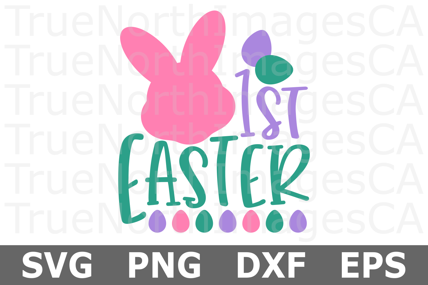 Personalized 1st Easter - An Easter SVG Cut File example image 2
