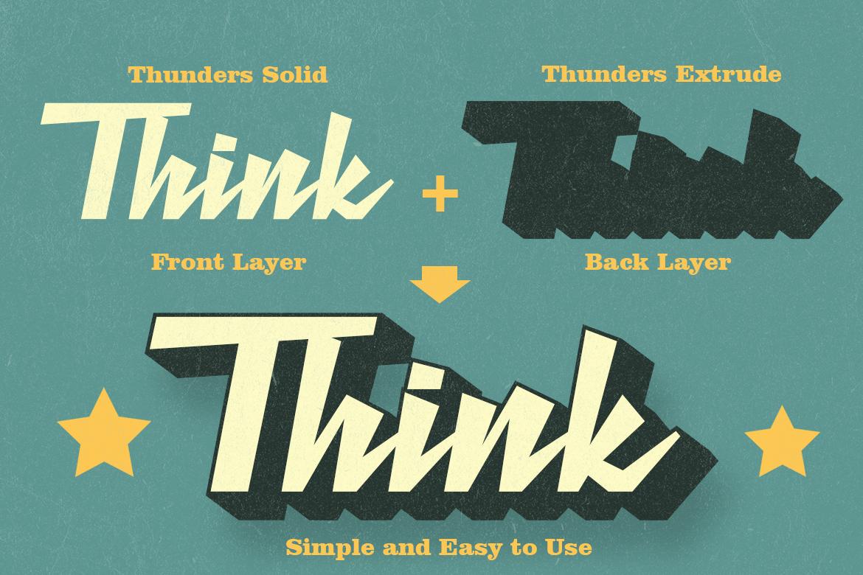 Retro Thunders - Retro Font example image 2