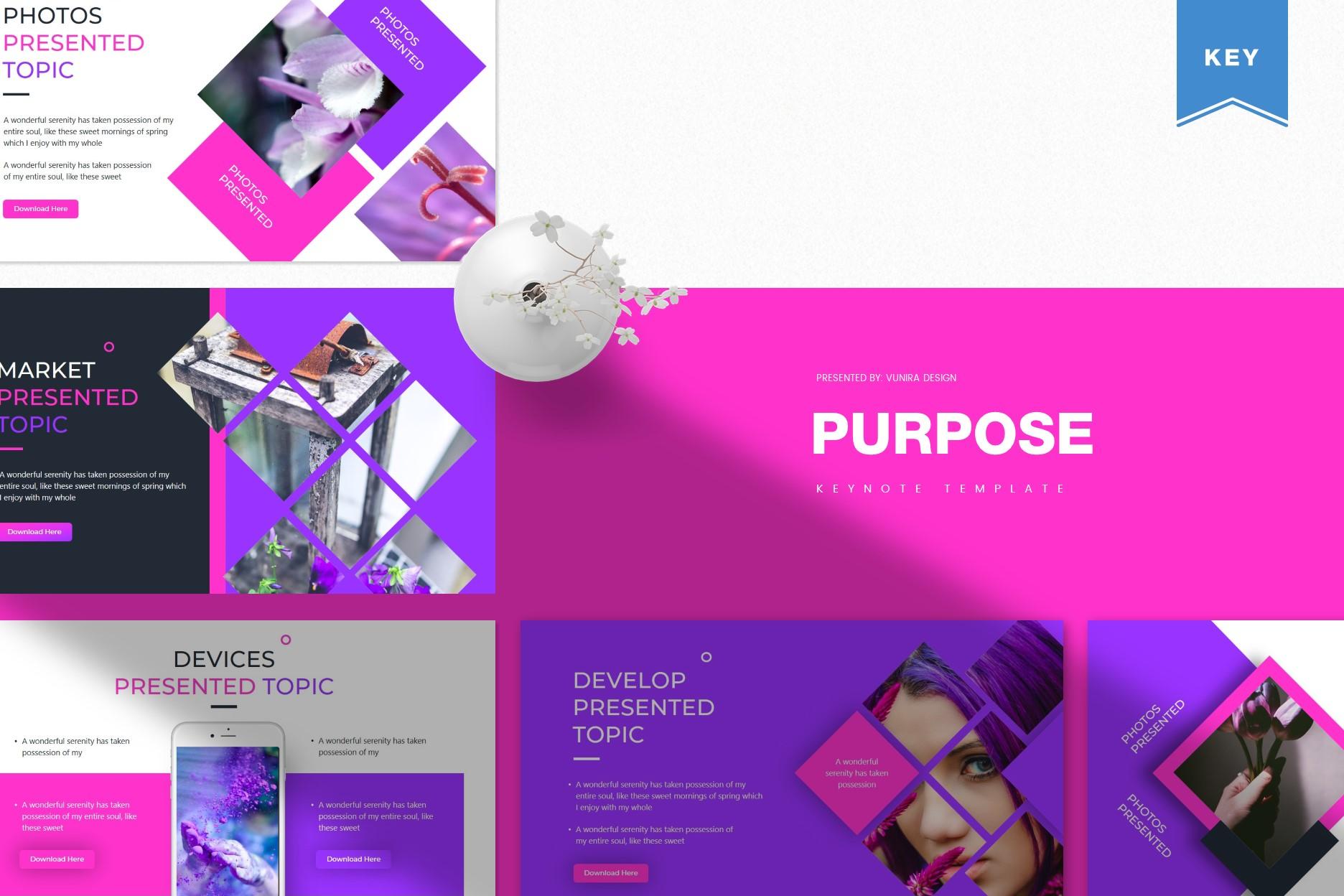 Purpose | Powerpoint, Keynote, GoogleSlides Template example image 2